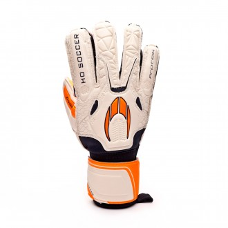 Luvas HO Soccer Basic Protek White-Orange