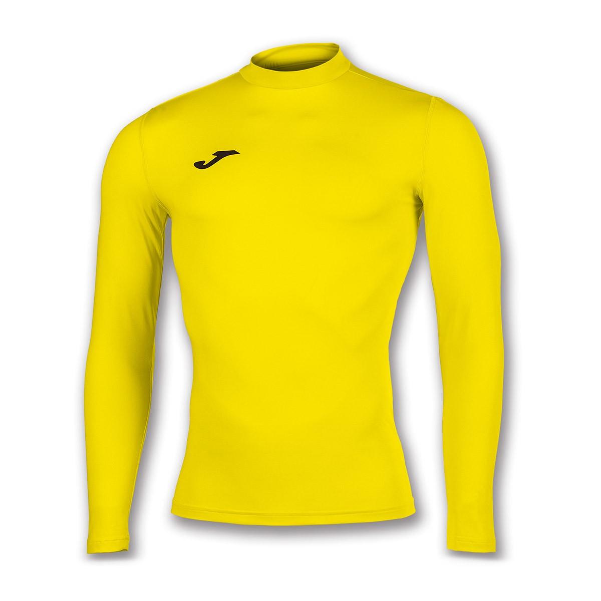 2aa39541b Camiseta Joma Térmica m l Brama Academy Amarillo - Tienda de fútbol Fútbol  Emotion