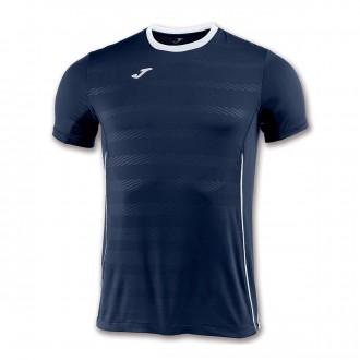 Camiseta  Joma Modena m/c Azul marino-Blanco