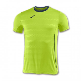 Camiseta  Joma Modena m/c Lima-Azul marino
