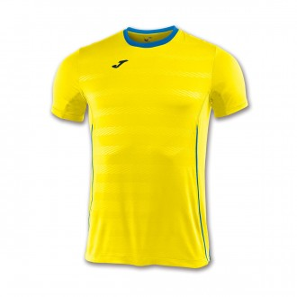 Camiseta  Joma Modena m/c Amarillo-Azul royal