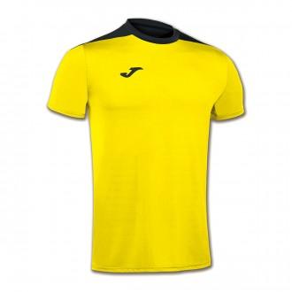 Camiseta  Joma Spike m/c Amarillo-Negro