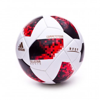 Ball  adidas FEF Competition White-Solar red-Black