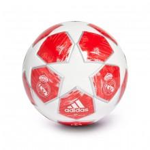 Balón Mini Finale18 Real Madrid 2018 White-Silver metallic-Real coral-Vivid red