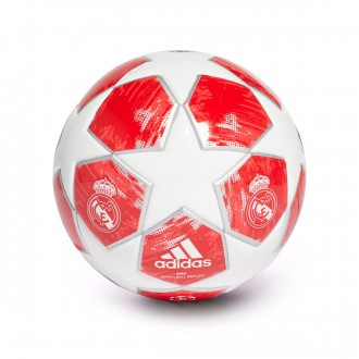 Balón  adidas Mini Finale18 Real Madrid 2018 White-Silver metallic-Real coral-Vivid red