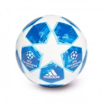 Pallone  adidas Mini Finale18 White-football blue-Bright cyan-Collegiate ro