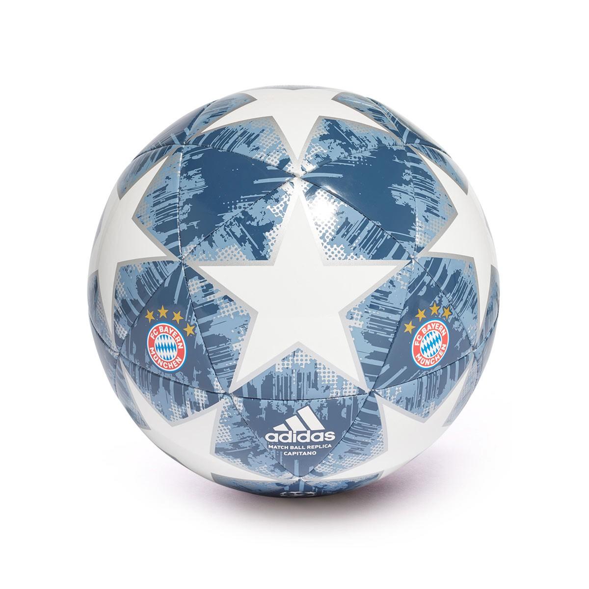 e64f2e2b78962 Ball adidas Finale18 Bayern Munich Capitano White-Silver metallic ...