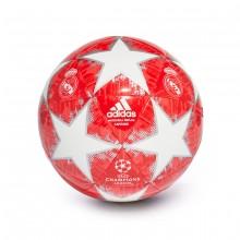 Balón Finale18 Real Madrid Capitano White-Silver metallic-Real coral-Vivid red