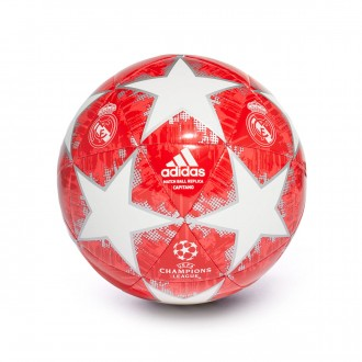 Ball  adidas Finale18 Real Madrid Capitano White-Silver metallic-Real coral-Vivid red
