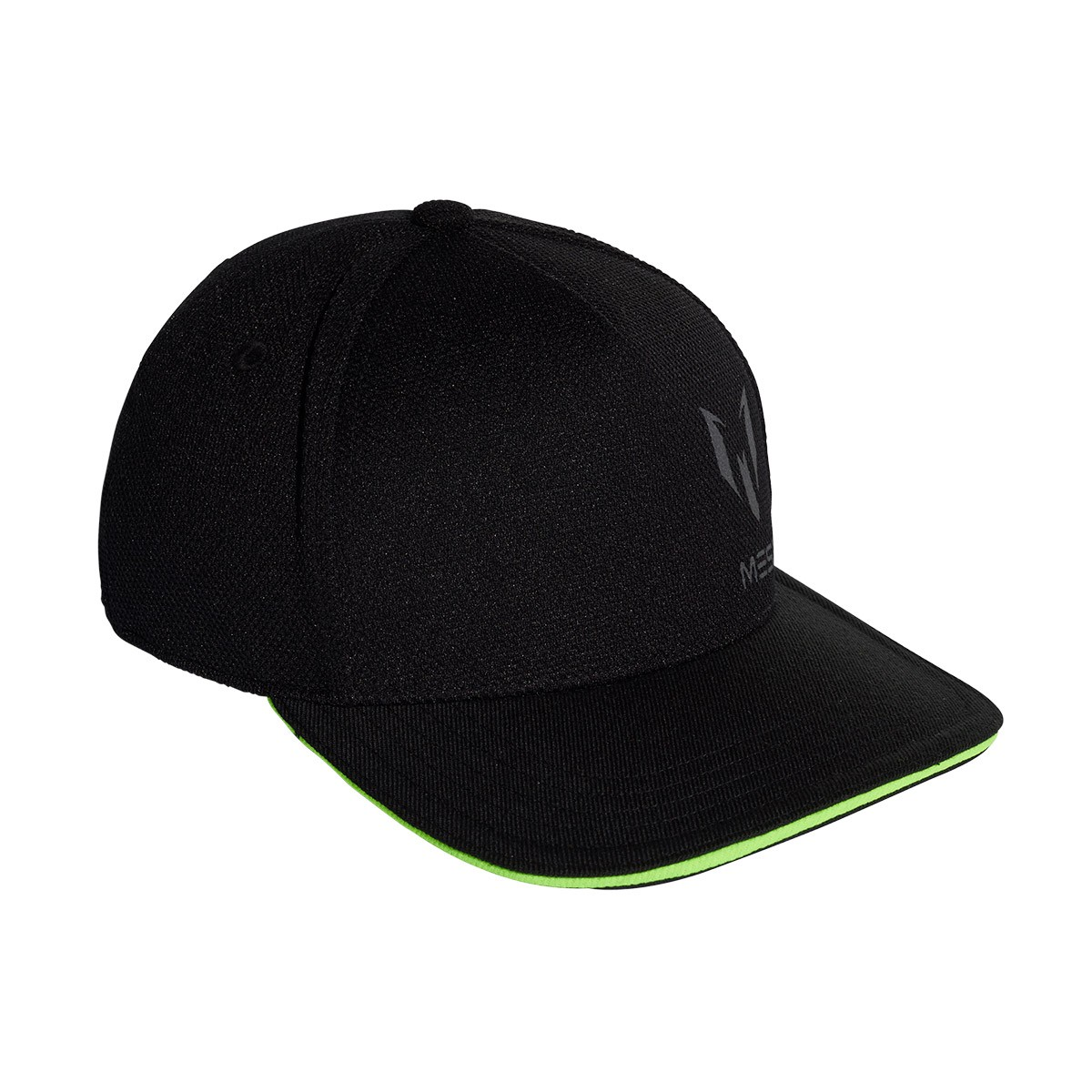 07eafcaaaec4d Cap adidas Kids Messi Black-Solar green - Football store Fútbol Emotion