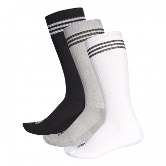 Socks  adidas Entrenamiento 3S (3 pares) Black-Grey-White