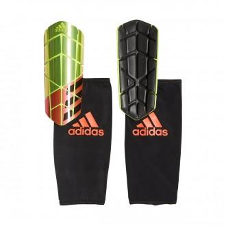 Espinillera  adidas X Pro Solar yellow-Solar red-Black