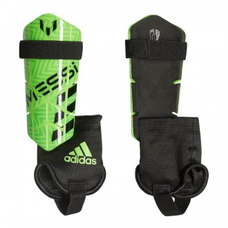 Shinpads  adidas Kids Messi 10  Solar green-Solar lime-Black