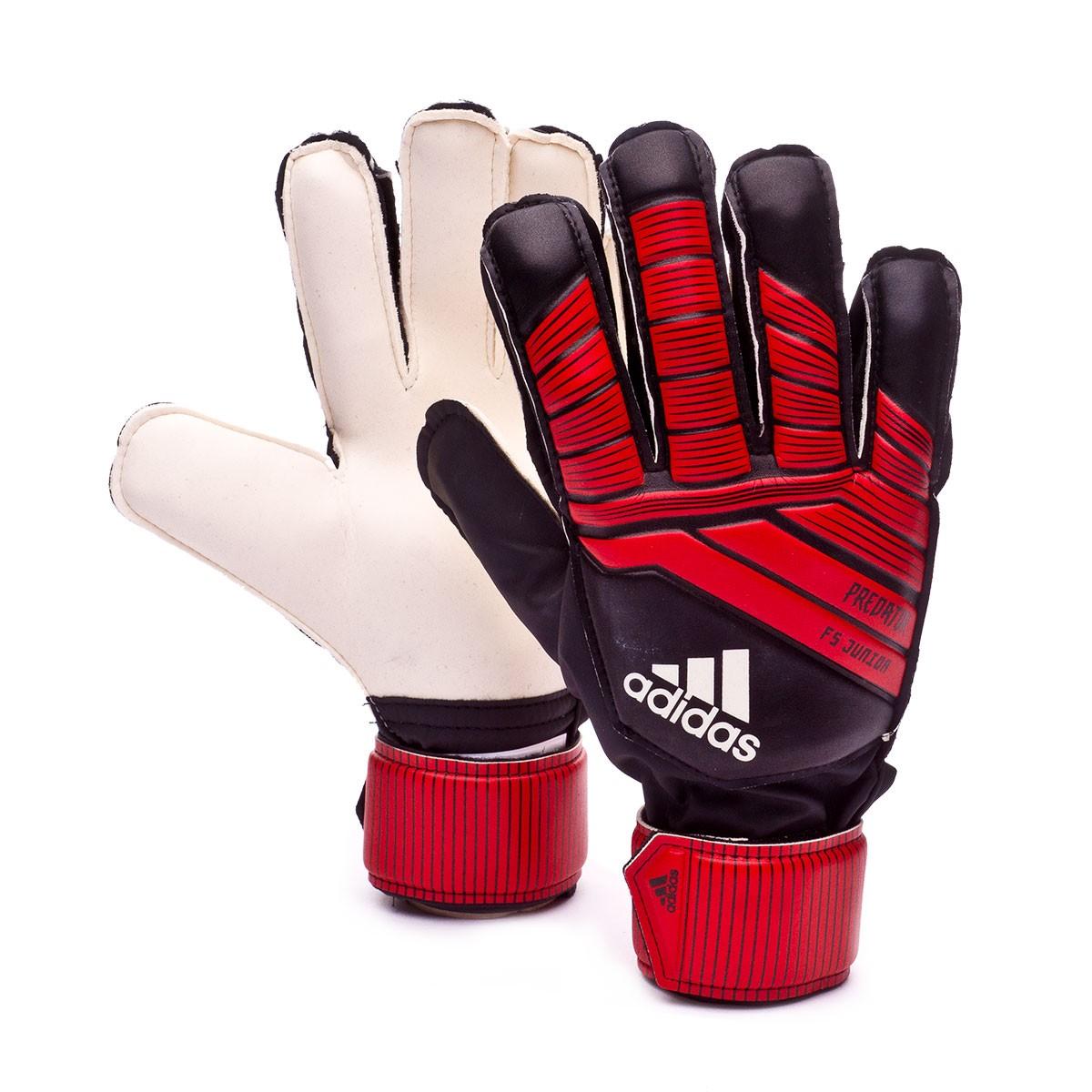 5500f57f97961 Luvas adidas Predator Fingersave Niño Black-Red-White - Loja de futebol  Fútbol Emotion