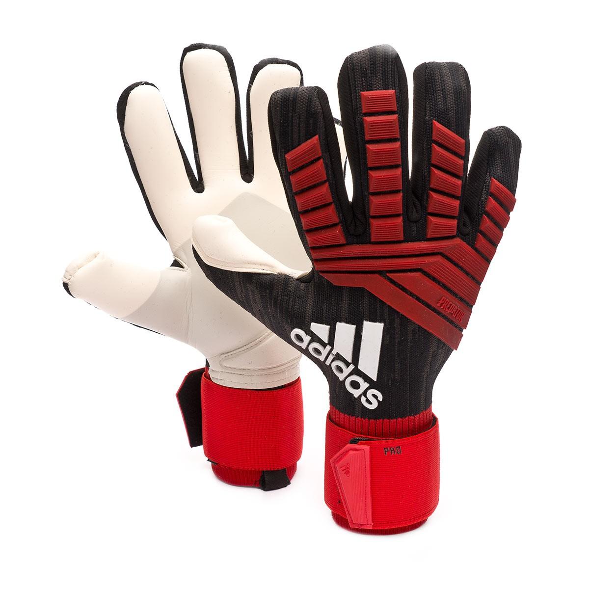 padre Arashigaoka Acompañar  Guante de portero adidas Predator Pro Black-Red-White - Tienda de fútbol  Fútbol Emotion