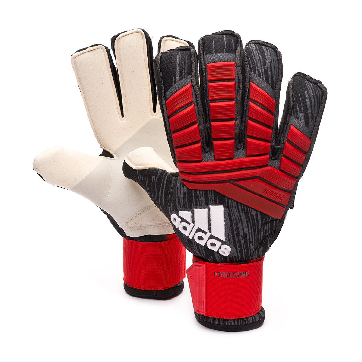 ee6541a5675e Glove adidas Predator Pro Fingersave Black-Red-White - Football store  Fútbol Emotion