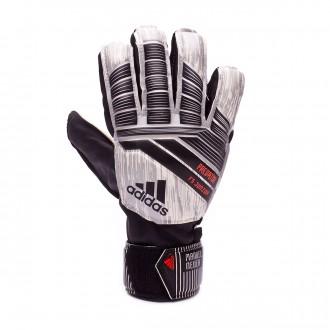 Glove  adidas Kids Predator Fingersave Manuel Neuer White-Silver metallic-Black-Solar red
