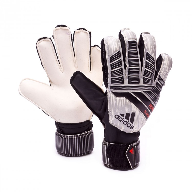 Guante Predator Fingersave Manuel Neuer Niño White Silver metallic Black Solar red