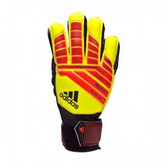 Glove adidas Kids Predator Fingersave Solar yellow-Solar red-Black