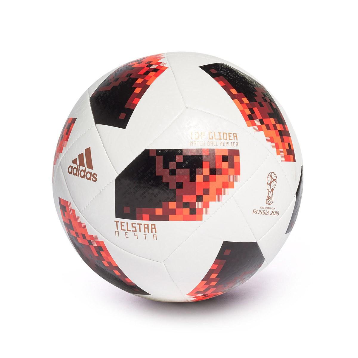Bola de Futebol adidas World Cup KO Top Glider White-Solar red-Black ... 86b84b3023e08