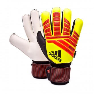 Luvas  adidas Predator Fingersave Rep Solar yellow-Solar red-Black