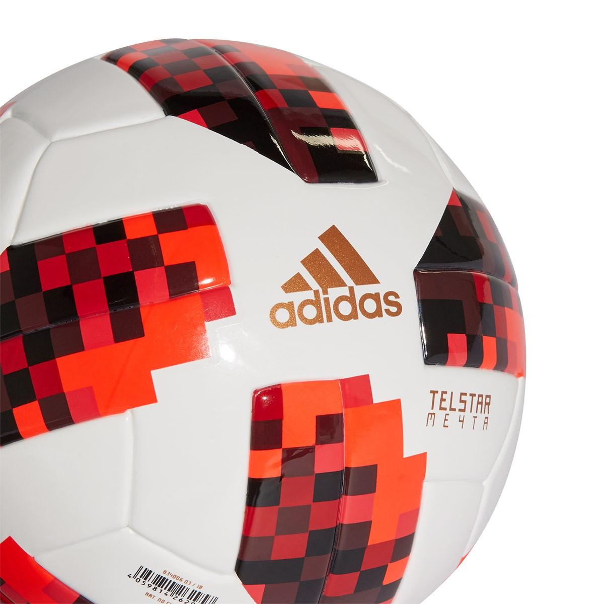 Balón adidas Mini World Cup KO White-Solar red-Black - Soloporteros ... 774f2ebfcd790