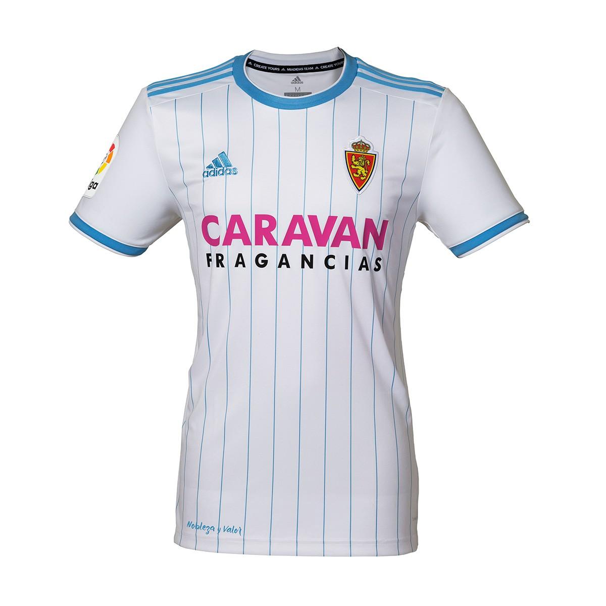 d88bc19d109b9 Camiseta adidas Real Zaragoza Primera Equipación 2018-2019 Niño White-Light  blue - Tienda de fútbol Fútbol Emotion