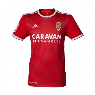 Jersey  adidas Kids Real Zaragoza 2018-2019 Away Red-White