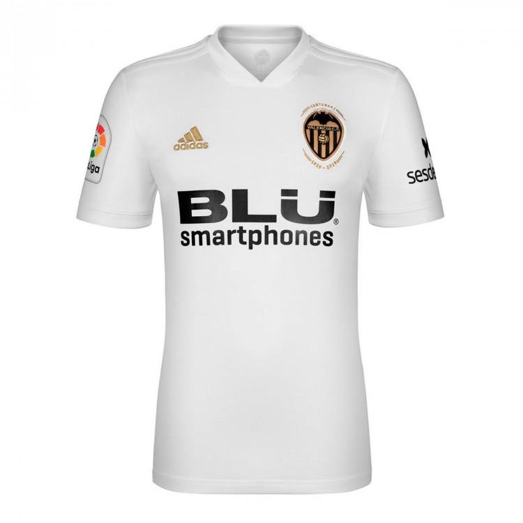 Camiseta adidas Valencia CF Primera Equipación 2018-2019 White ... 3cfafe16242c0