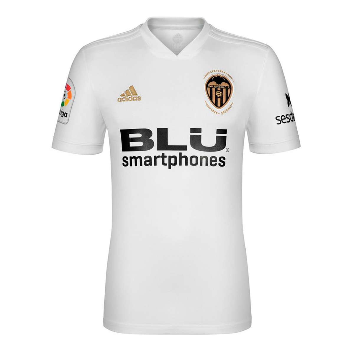 0ab9cd07a Jersey adidas Valencia CF 2018-2019 Home White-Crystal white ...
