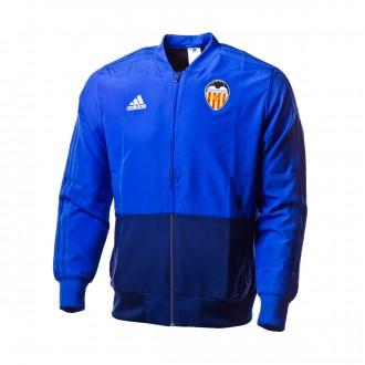 Chaqueta  adidas Valencia CF Prematch 2018-2019 Bold blue-Dark blue-White