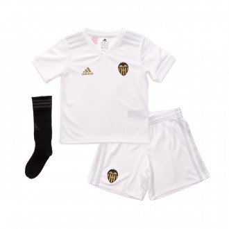 Kit  adidas Kids Valencia CF  2018-2019 Home White-Crystal white