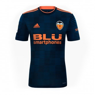 Jersey  adidas Kids Valencia CF 2018-2019 Away Collegiate navy-Semi solar orange