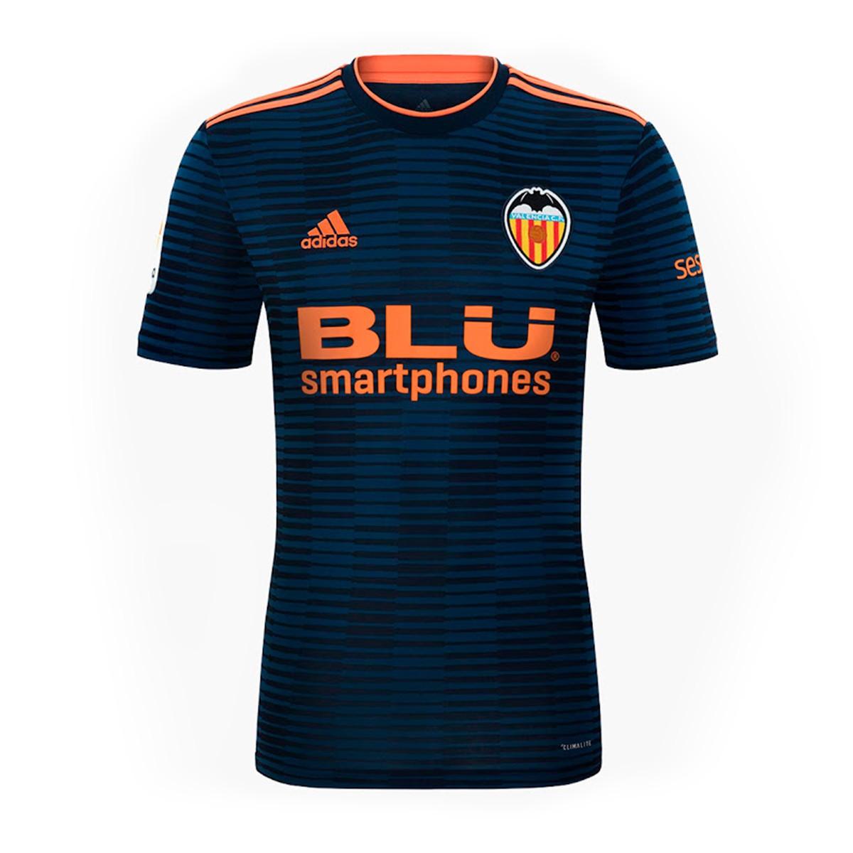 090c90ad5 Camiseta adidas Valencia CF Segunda Equipación 2018-2019 Niño Collegiate  navy-Semi solar orange - Tienda de fútbol Fútbol Emotion
