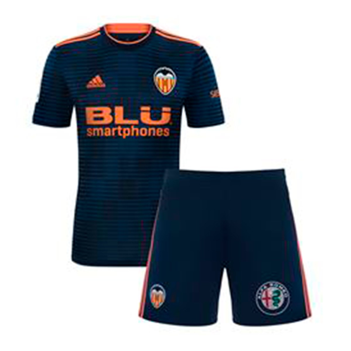 37a0befa5 Kit adidas Kids Valencia CF 2018-2019 Away Collegiate navy-Semi ...