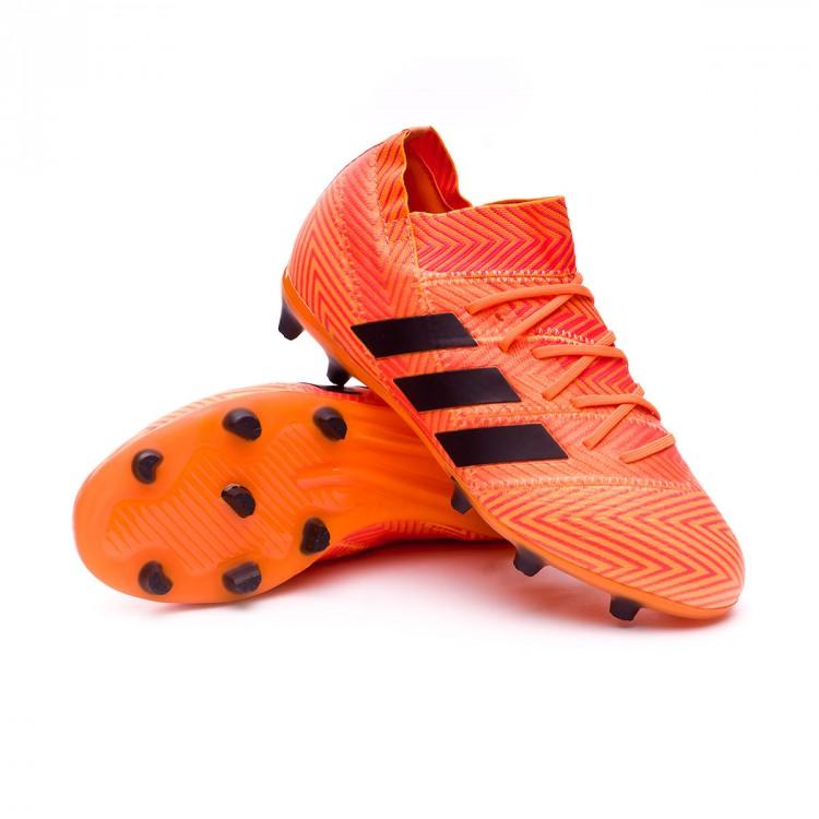 Adidas Black Nemeziz 18 1 Fútbol Red Bota De Niño Zest Fg Solar qaw1znRx