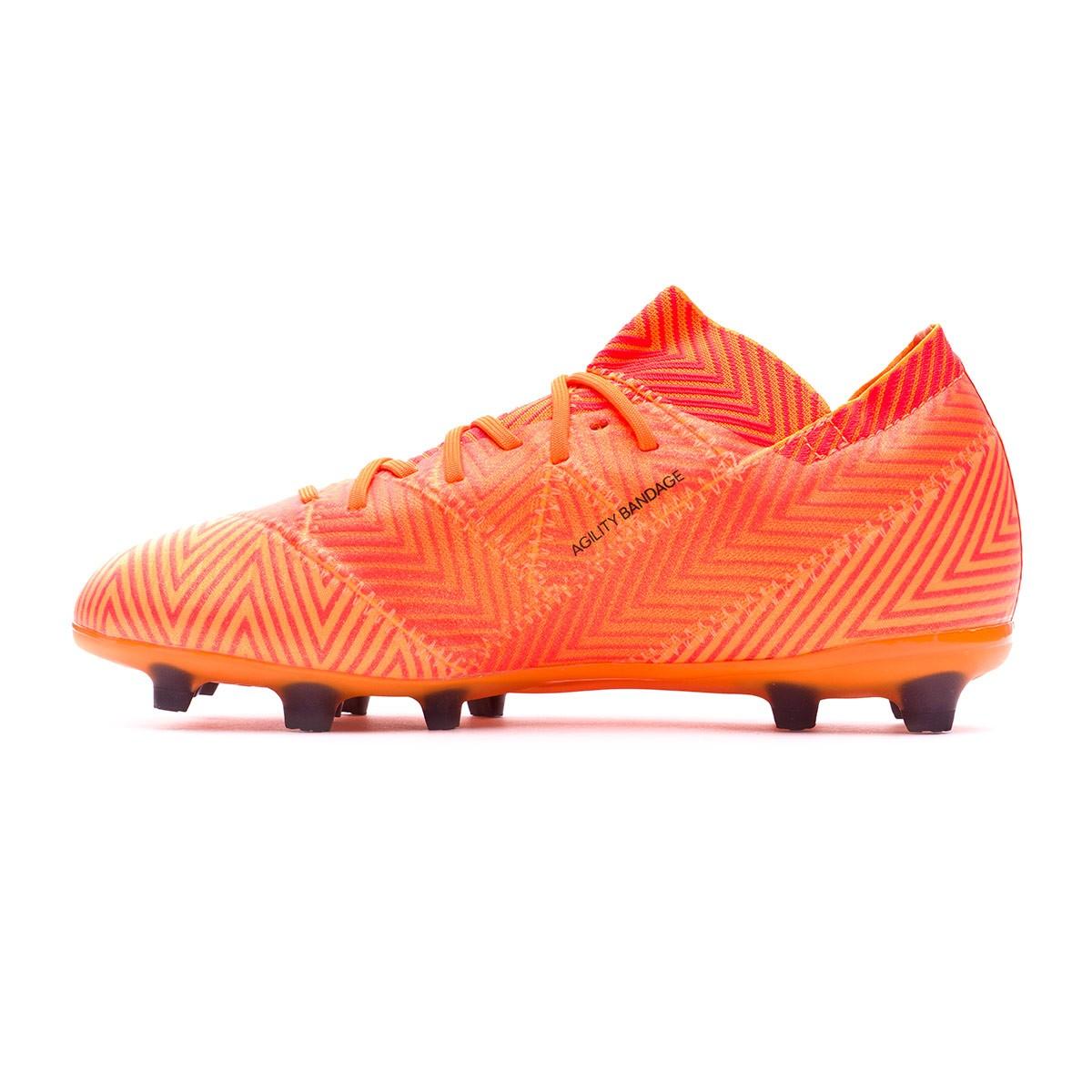Bota de fútbol adidas Nemeziz 18.1 FG Niño Zest-Black-Solar red ... ede1b6d73cf4c