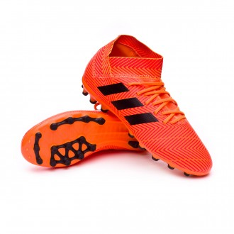 Bota  adidas Nemeziz 18.3 AG Niño Zest-Black-Solar red