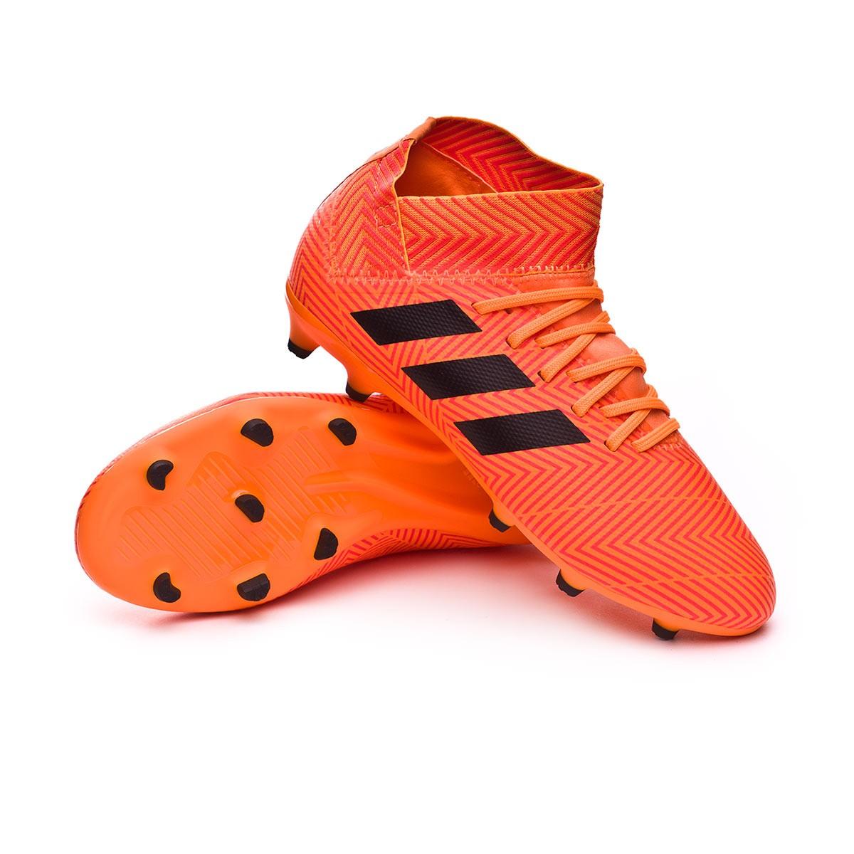 371a55b860963 Football Boots adidas Kids Nemeziz 18.3 FG Zest-Black-Solar red ...