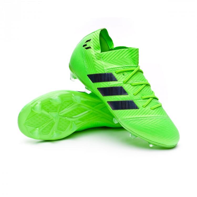 490d31e8c Boot adidas Kids Nemeziz Messi 18.1 FG Solar green-Black - Leaked soccer