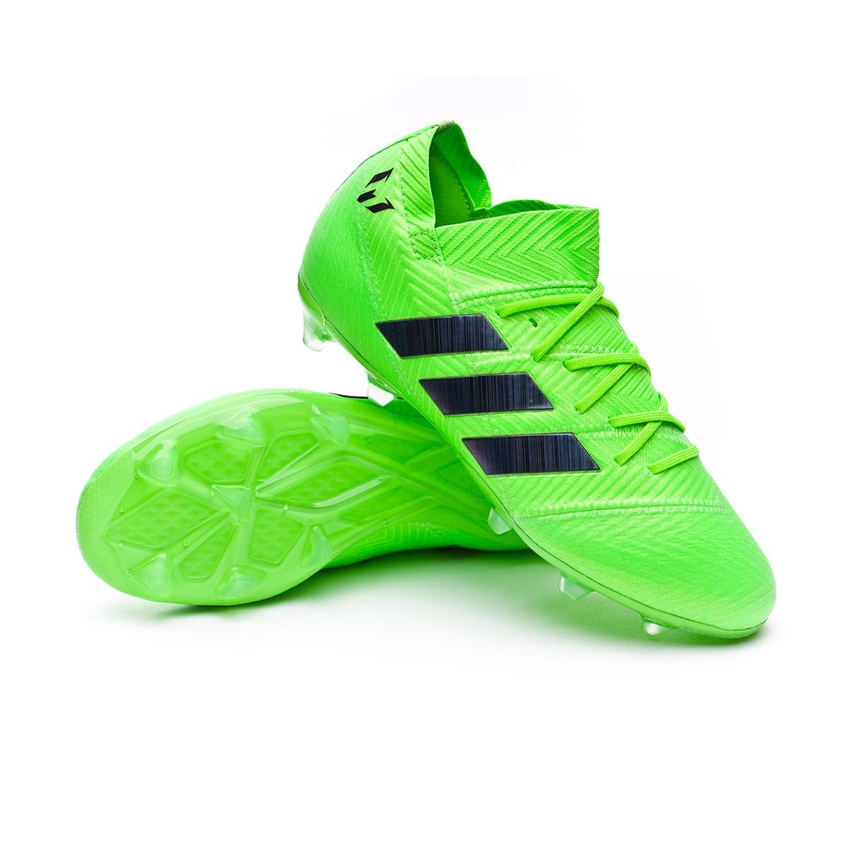 c1587dd691e Football Boots adidas Kids Nemeziz Messi 18.1 FG Solar green-Black ...