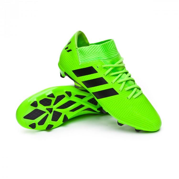 154358ea2b226 Bota de fútbol adidas Nemeziz Messi 18.3 FG Niño Solar green-Black ...