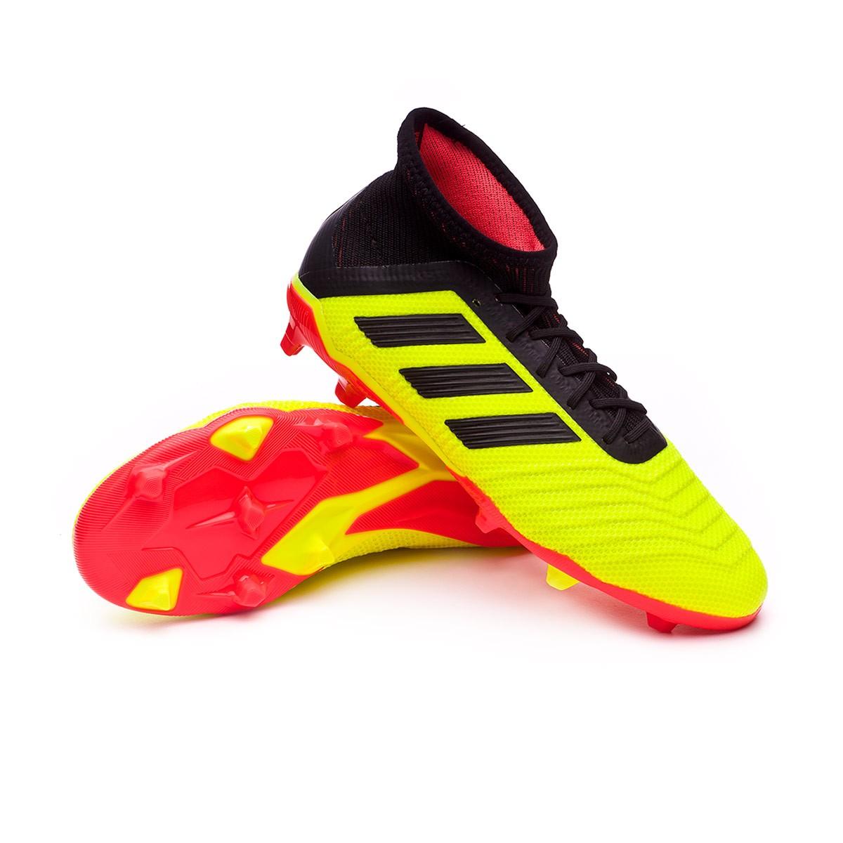 24d018318 Football Boots adidas Kids Predator 18.1 FG Solar yellow-Black-Solar ...