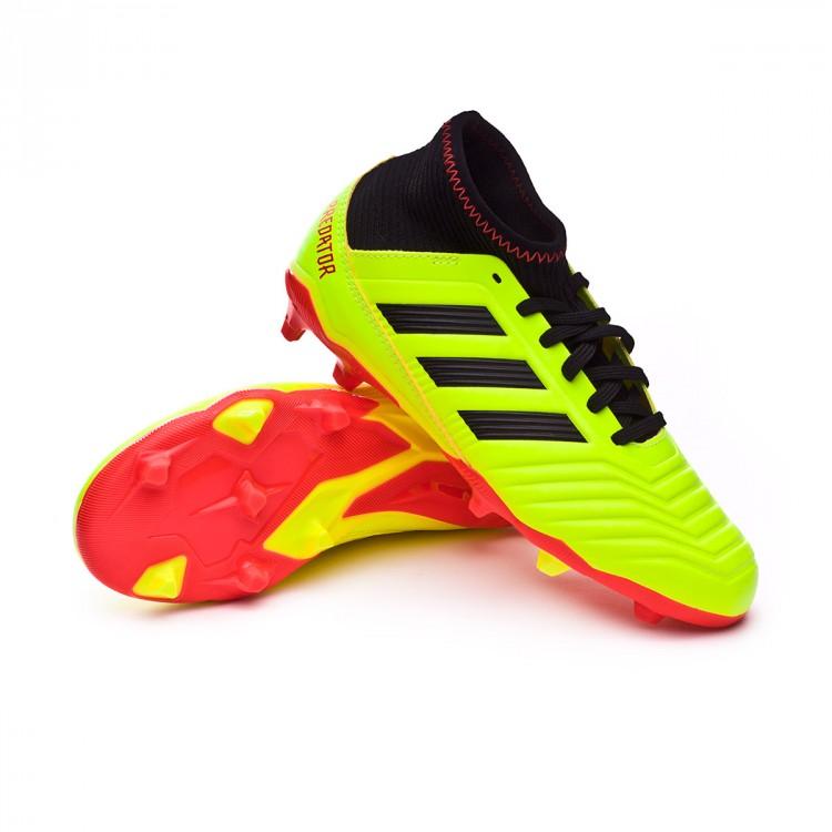 calidad primero sin impuesto de venta lindo baratas Boot adidas Predator 18.3 FG Niño Solar yellow-Black-Solar red ...