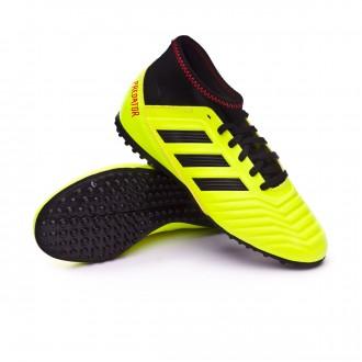 Sapatilha de Futsal  adidas Predator Tango 18.3 Turf Crianças Solar yellow-Black-Solar red