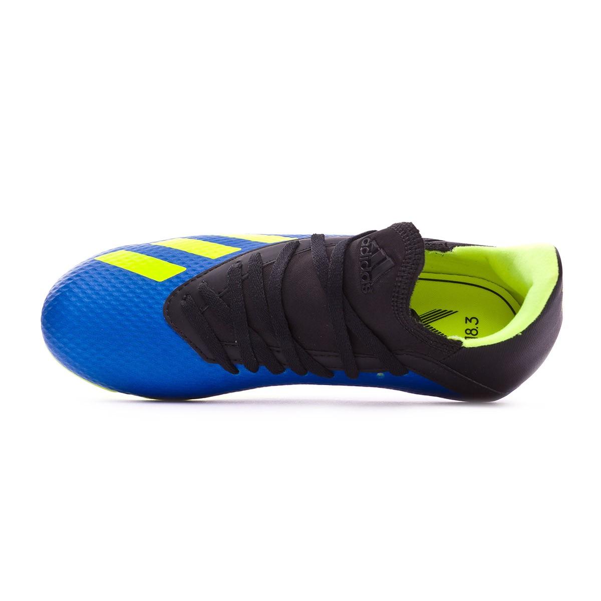92e5d49956c Football Boots adidas Kids X 18.3 FG Foot blue-Solar yellow-Black - Tienda  de fútbol Fútbol Emotion