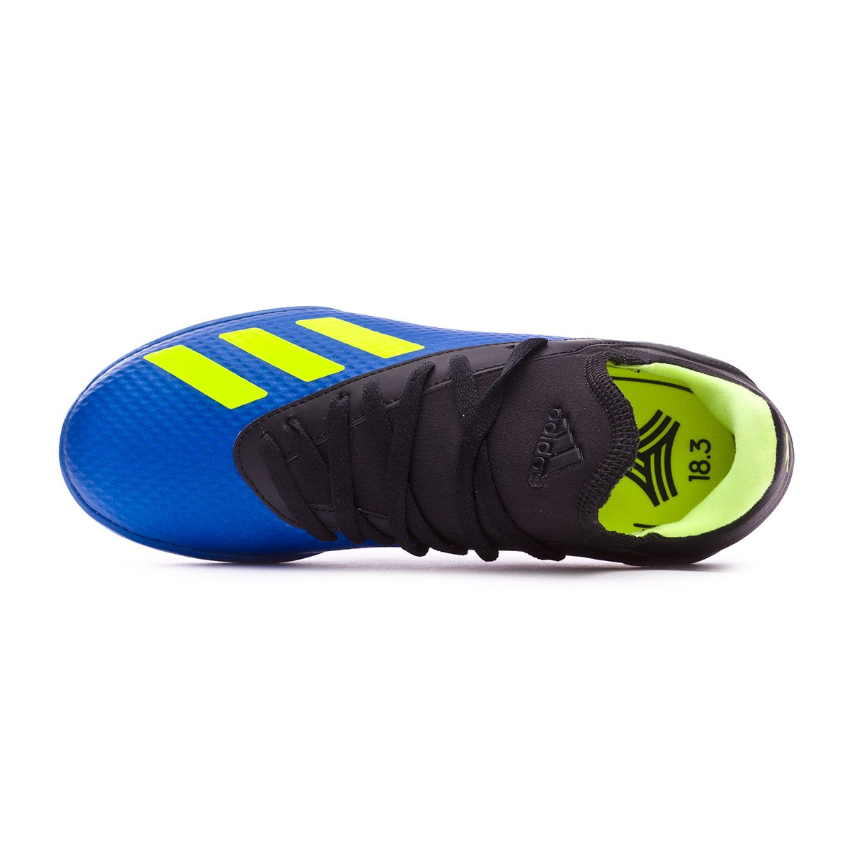 new concept b1d57 a8471 Chaussure de football adidas X Tango 18.3 Turf enfant Foot blue-Solar  yellow-Black - Boutique de football Fútbol Emotion
