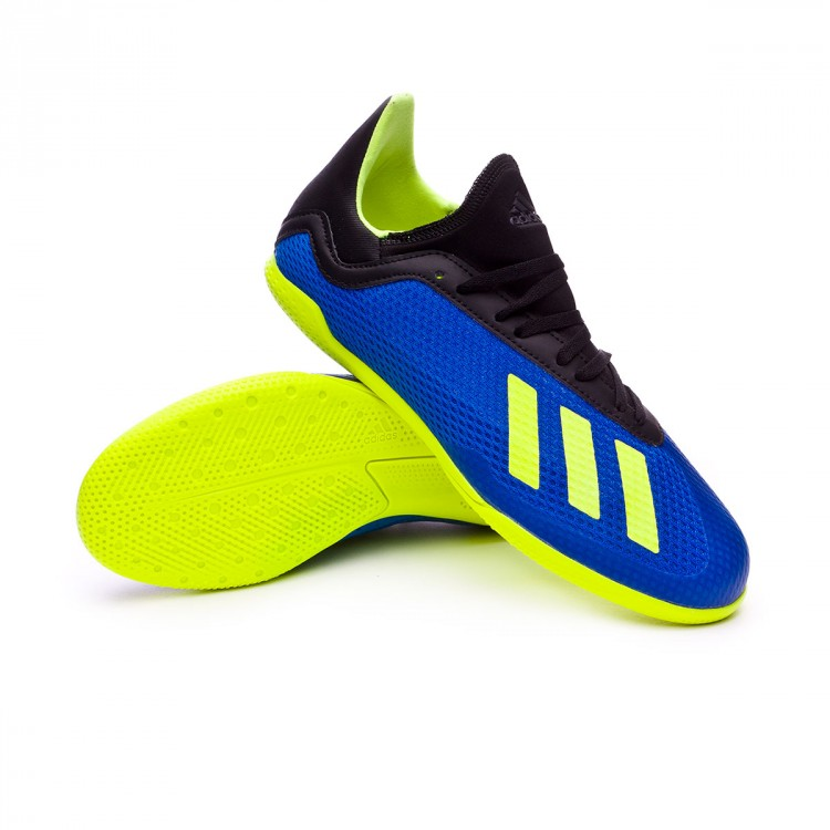 156aad9ab3b Futsal Boot adidas Kids X Tango 18.3 IN Foot blue-Solar yellow-Black ...