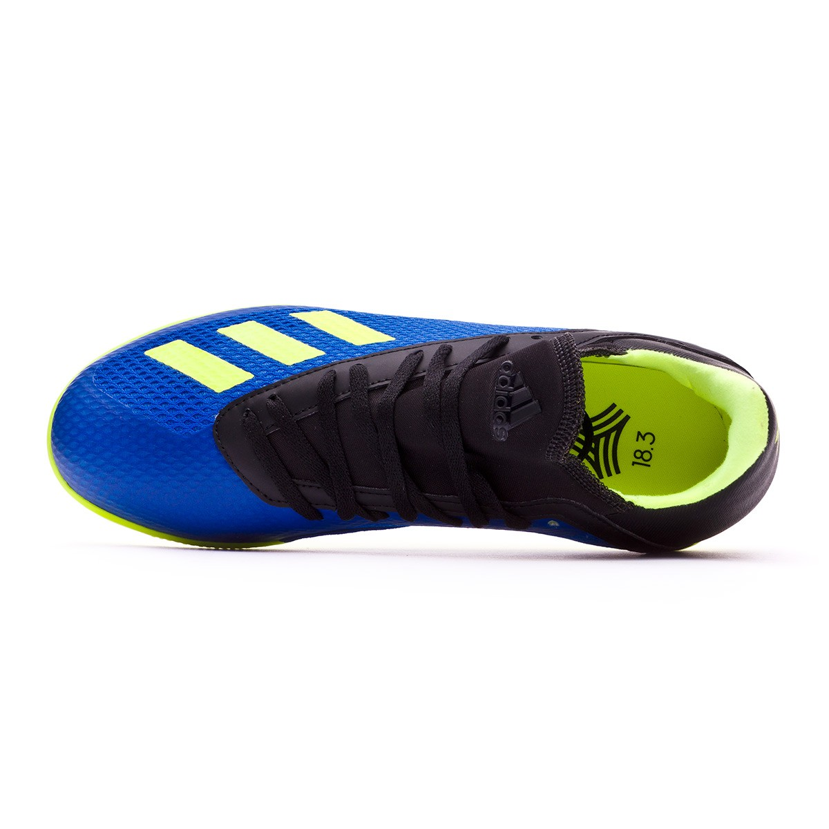 9359f15fad1 Futsal Boot adidas Kids X Tango 18.3 IN Foot blue-Solar yellow-Black -  Football store Fútbol Emotion