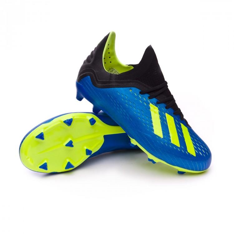 Bota de fútbol adidas X 18.1 FG Niño Foot blue-Solar yellow-Black ... bc0ec2dbf8849